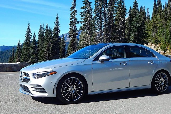 Mercedes-Benz Class A sedan en route to Canada